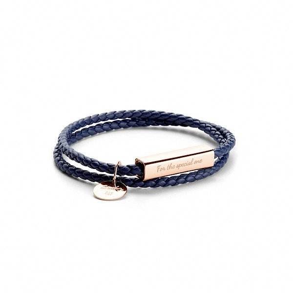 Ricordi 925 Silver Wrap Bracelet - Palace Blue (Rose Gold Edition)
