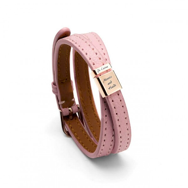 Alla moda buckle bracelet in 925 silver_dusty pink